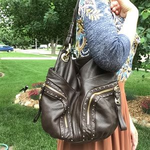 butter soft leather B MAKOWSKY slouch bag purse